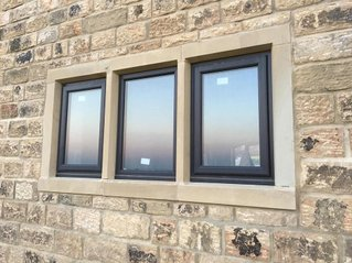 Triple Window Stone Surround