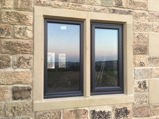 Double Window Stone Surround